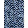 lascana maxi-jurk met print all-over blauw