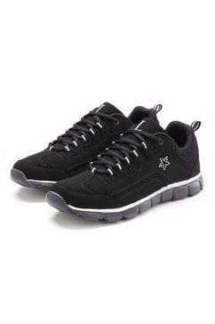 lascana sneakers met kleine strassteentjes zwart