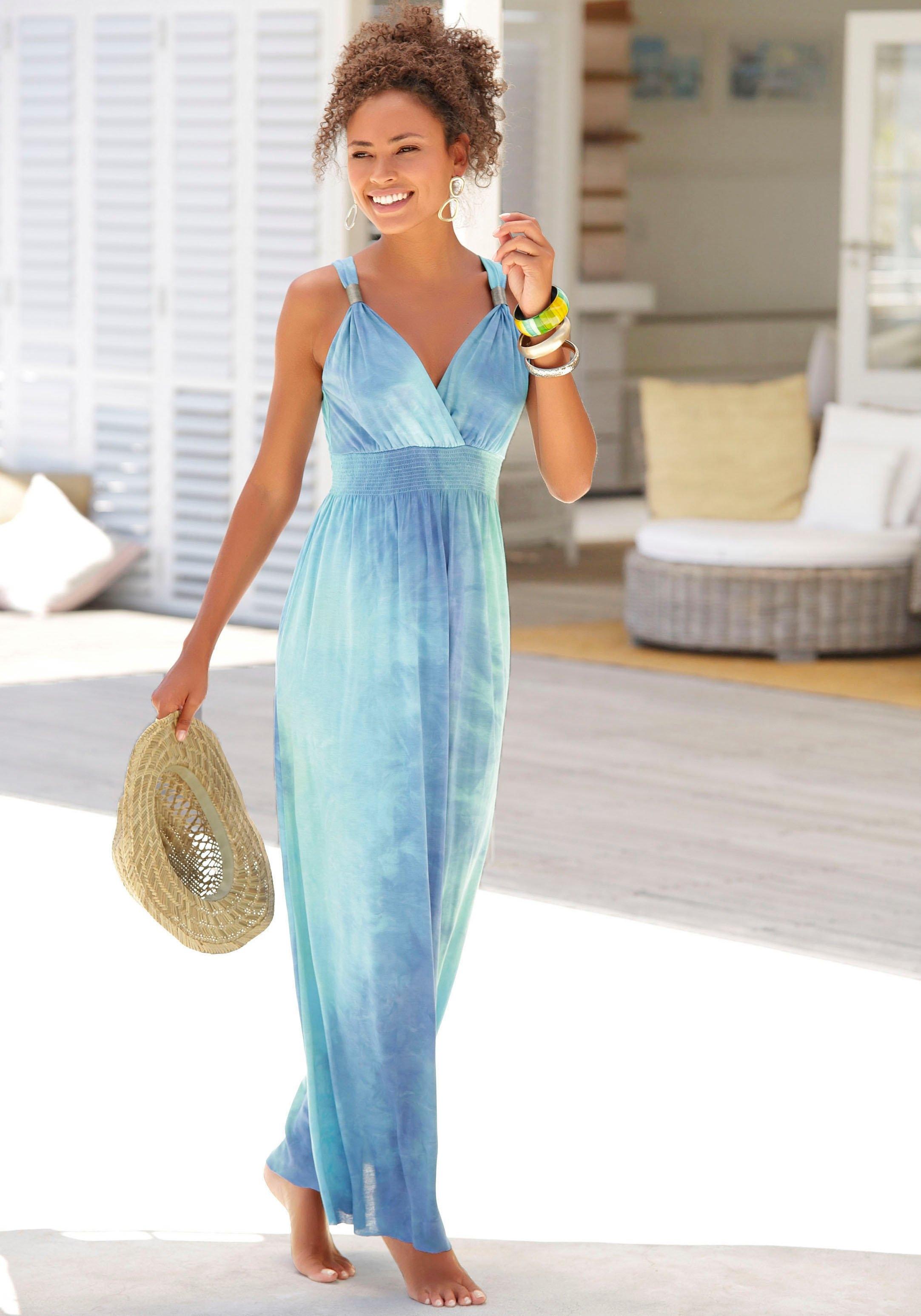 Lascana maxi-jurk met batikprint online kopen op lascana.nl