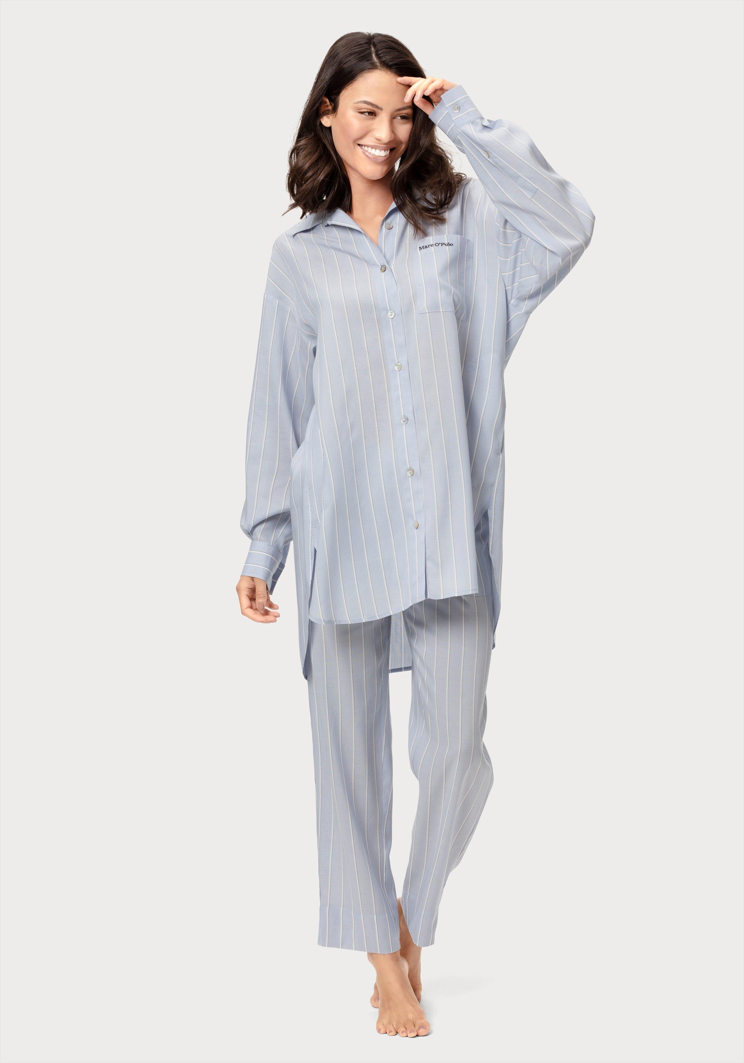 Marc O'Polo nachthemd met streepdessin - gratis ruilen op lascana.nl