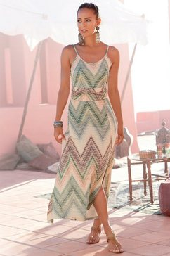 lascana midi-jurk met zomerse print multicolor