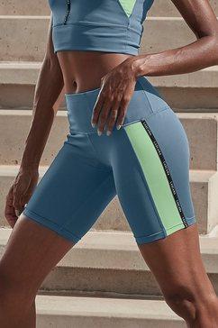 active by lascana fietsbroekje met lycra sport blauw