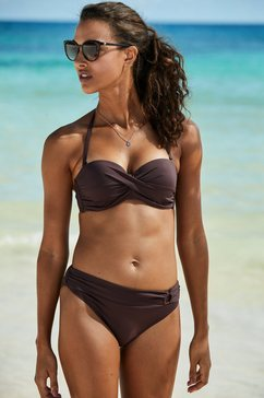s.oliver red label beachwear beugelbikinitop in bandeaumodel rome in wikkellook bruin