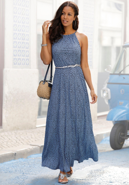 Lascana maxi-jurk met print all-over voordelig en veilig online kopen
