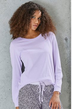 vivance collection shirt met lange mouwen lila