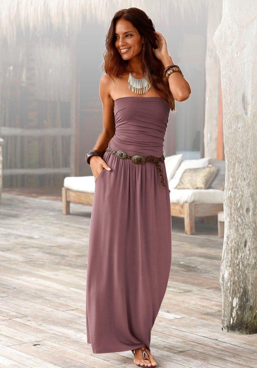 Op zoek naar een Lascana maxi-jurk met smalle top? Koop online bij Lascana