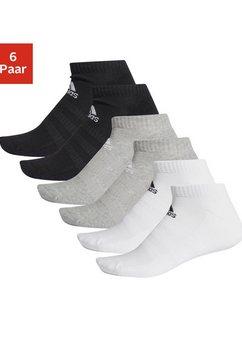 adidas performance sneakersokken cush low met ondersteuning van de voetboog (6 paar) zwart