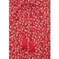 vivance maxirok met bloemetjesprint rood