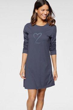 schiesser nachthemd met hartmotief blauw