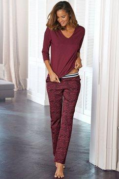 s.oliver red label beachwear pyjama lange broek met animal-print rood