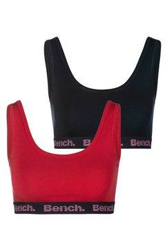 bench. bustier met logo-weefband (set, set van 2) rood