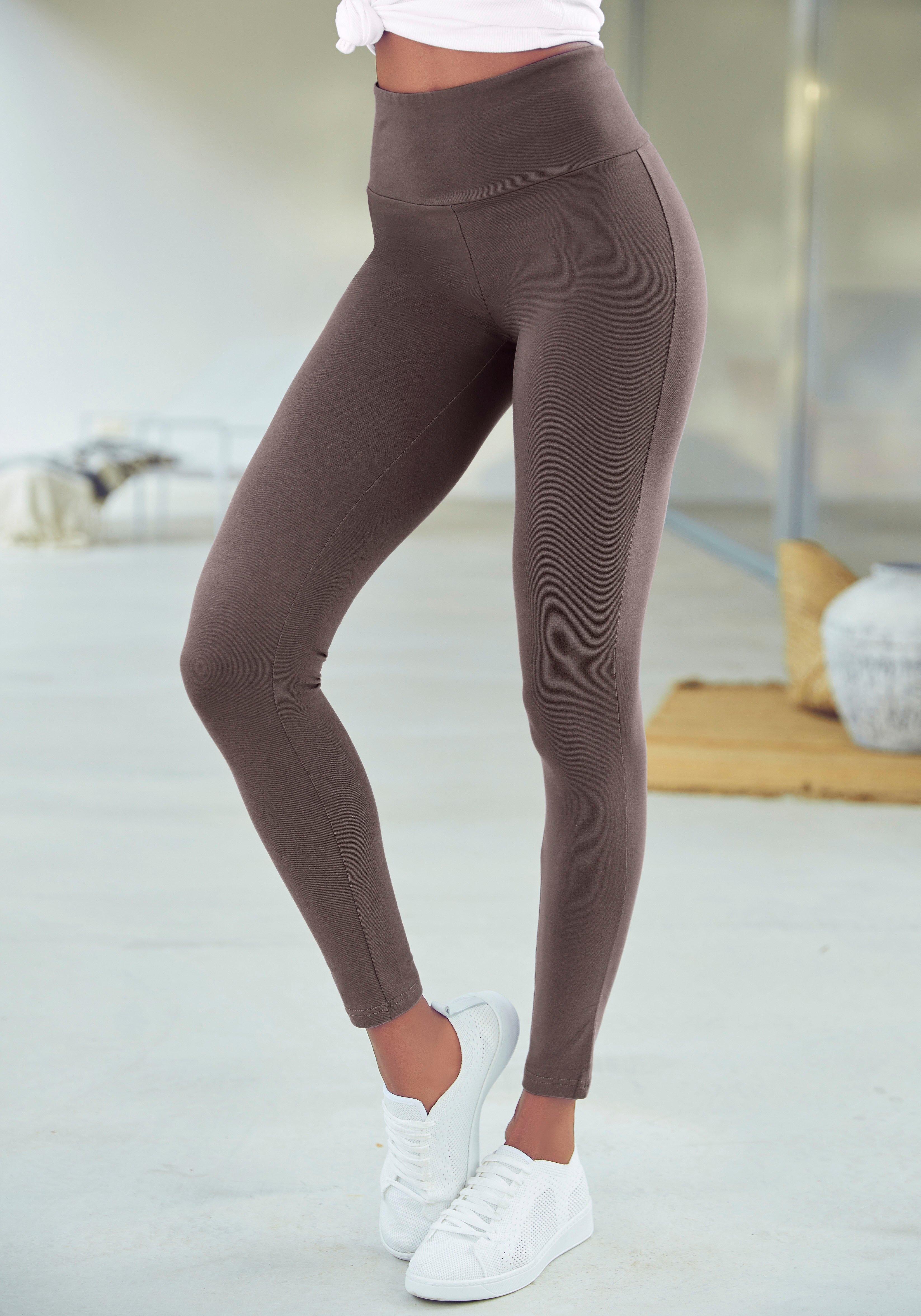 Lascana Legging met brede boord nu online kopen bij Lascana