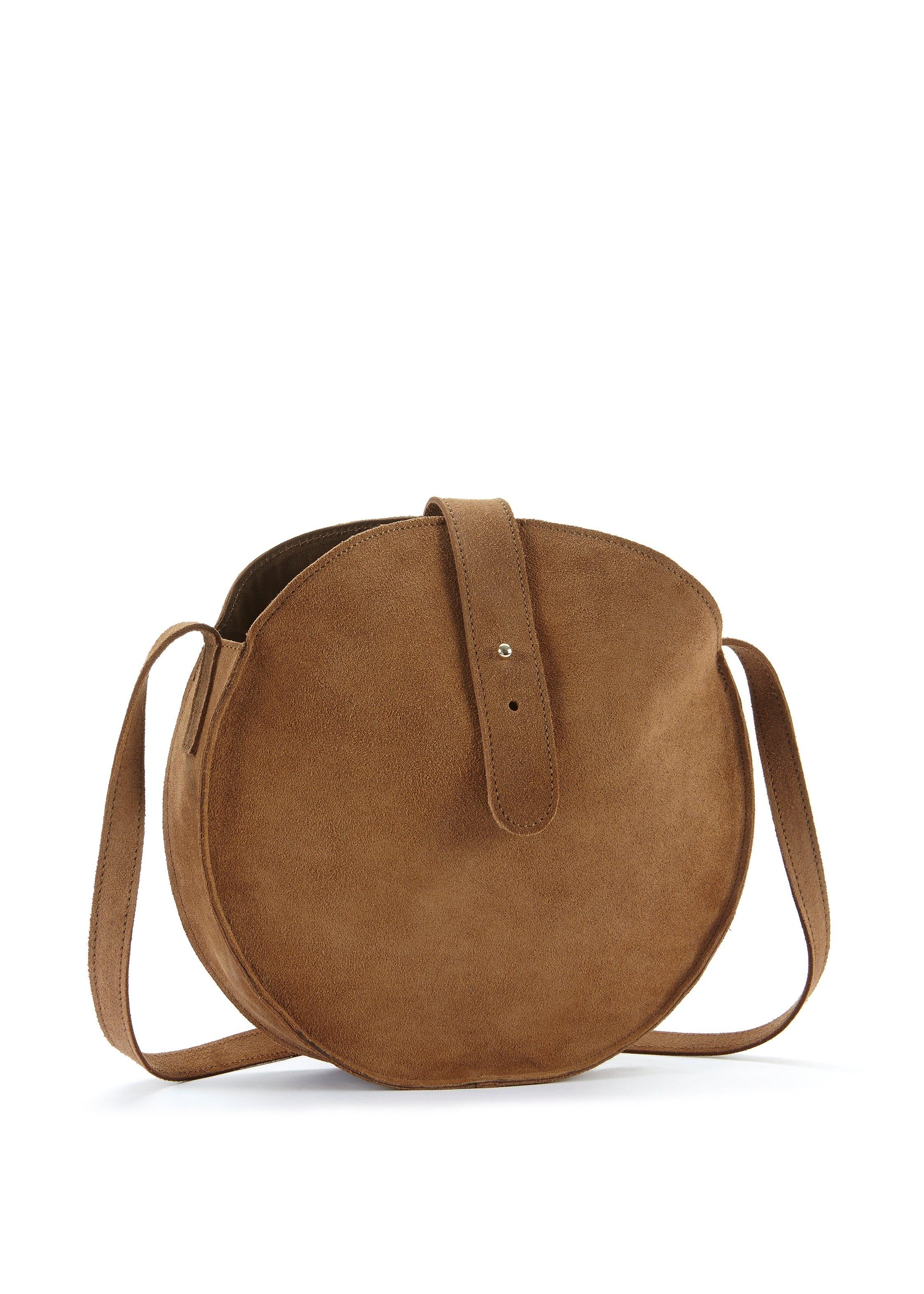 Op zoek naar een Lascana schoudertas Ronde tas van suèdeleer in casual look? Koop online bij Lascana