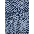 lascana korte jumpsuit (met een bindceintuur) blauw
