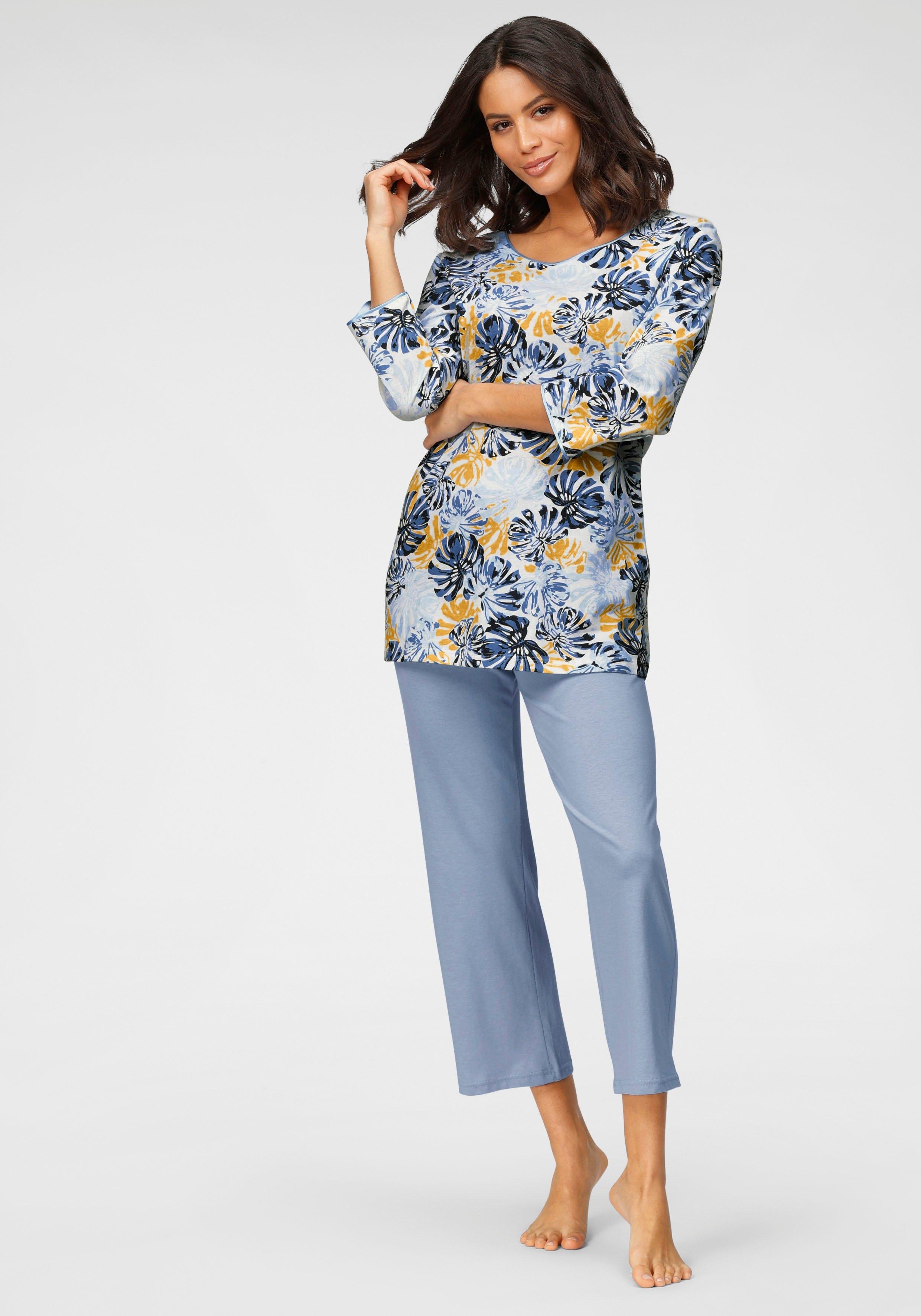 Cybèle pyjama met bladerprint veilig op lascana.nl kopen