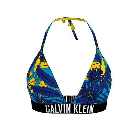 Calvin Klein triangel-bikinitop met tropical-print