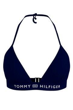 tommy hilfiger triangel-bikinitop met logoband blauw