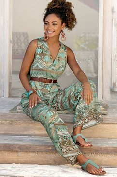 lascana jumpsuit gedessineerd of uni multicolor