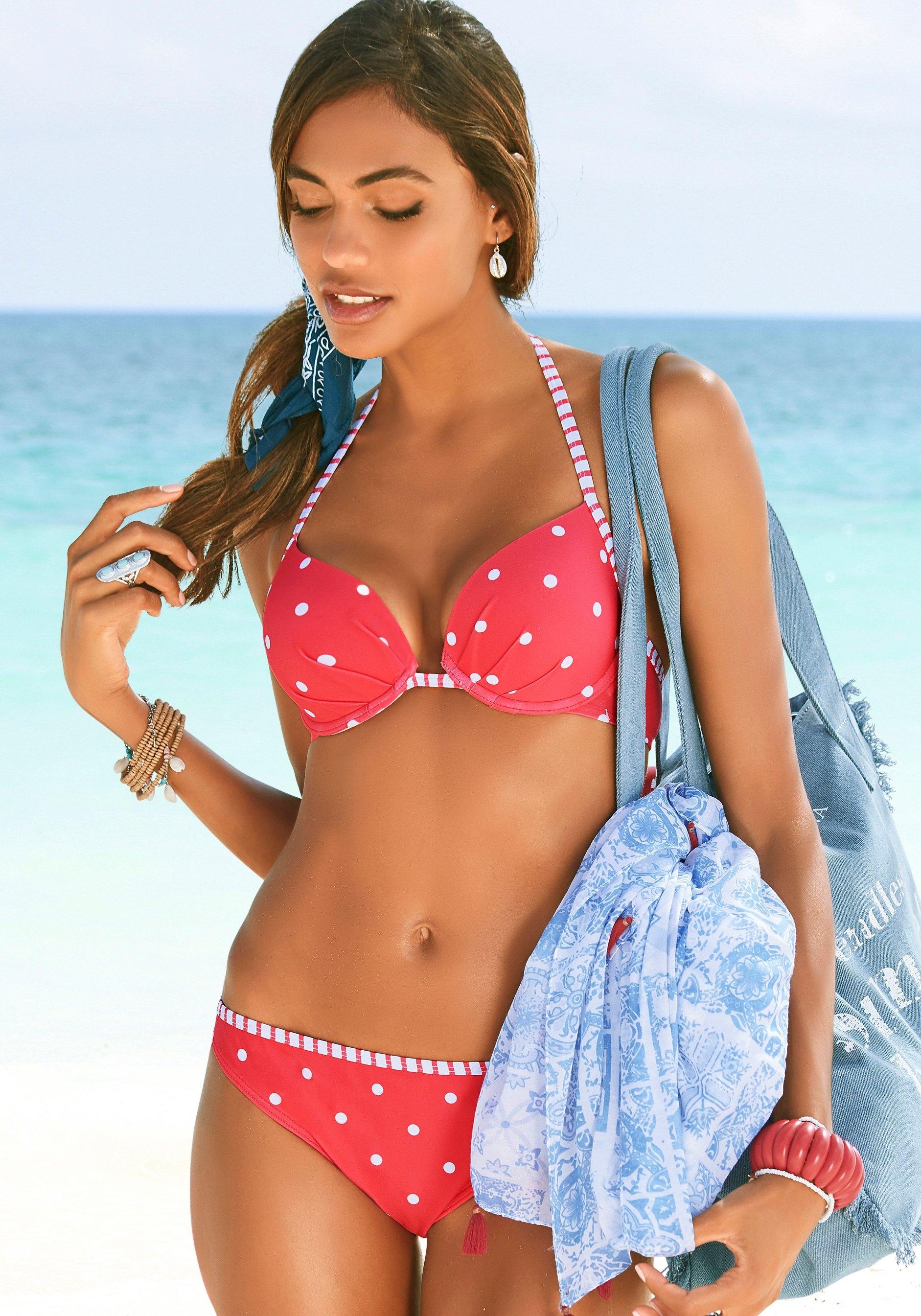 s.Oliver RED LABEL Beachwear bikinibroekje AUDREY met gestreepte paspel in de webshop van Lascana kopen