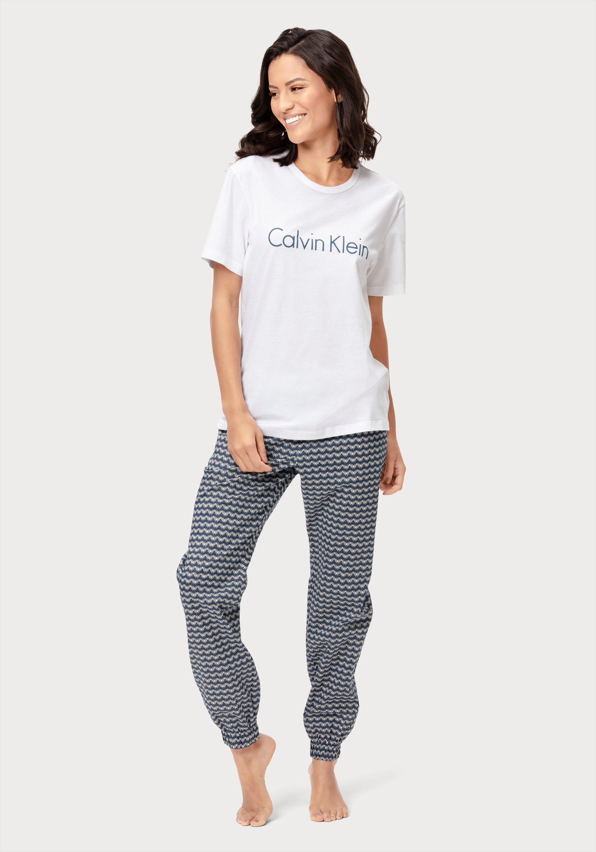 Calvin Klein relaxbroek met motief en steekzakken opzij nu online kopen bij Lascana