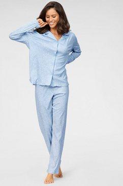 schiesser pyjama blauw