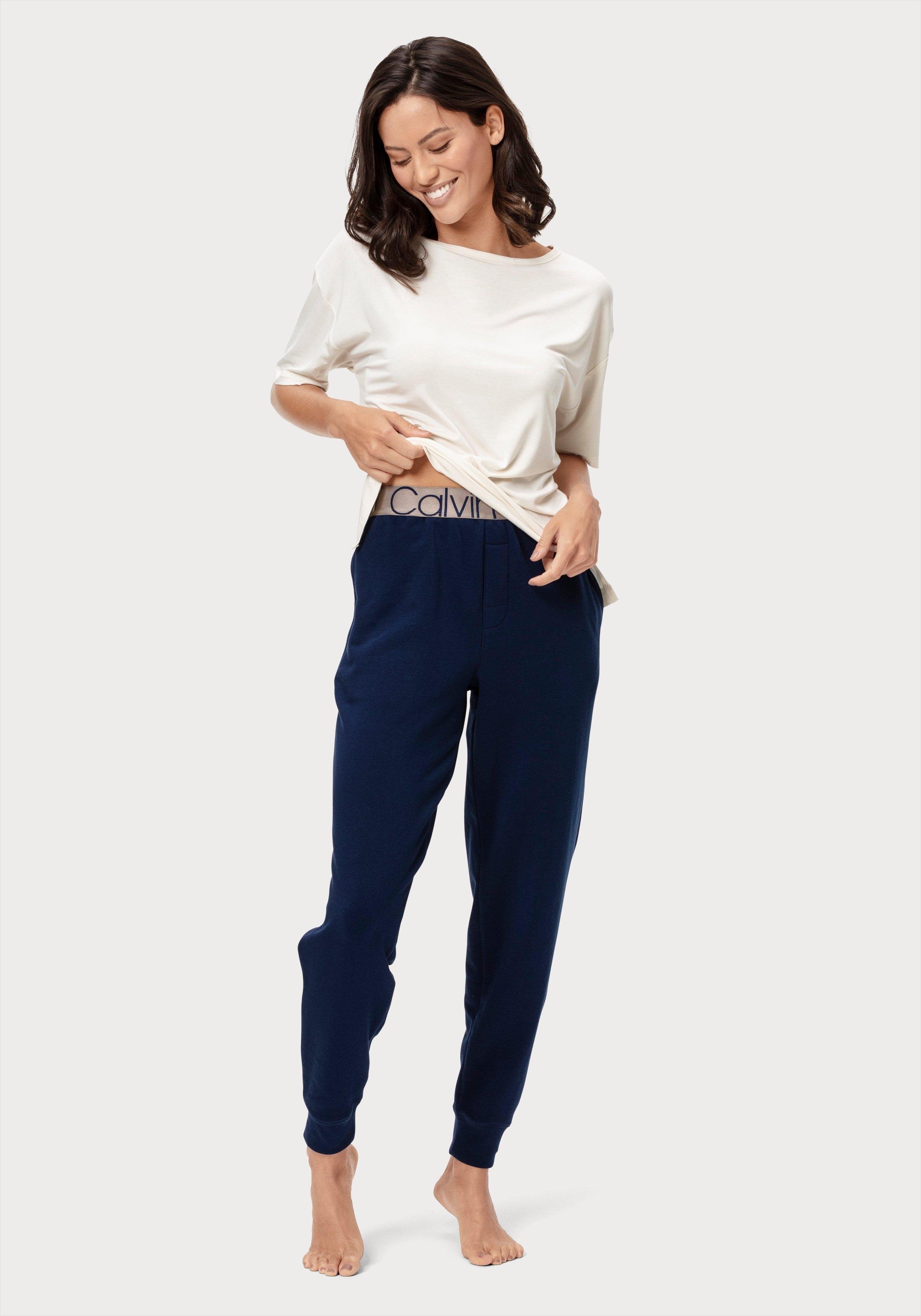 Calvin Klein Relaxbroek met steekzakken opzij en ingeweven logo in de band bij Lascana online kopen
