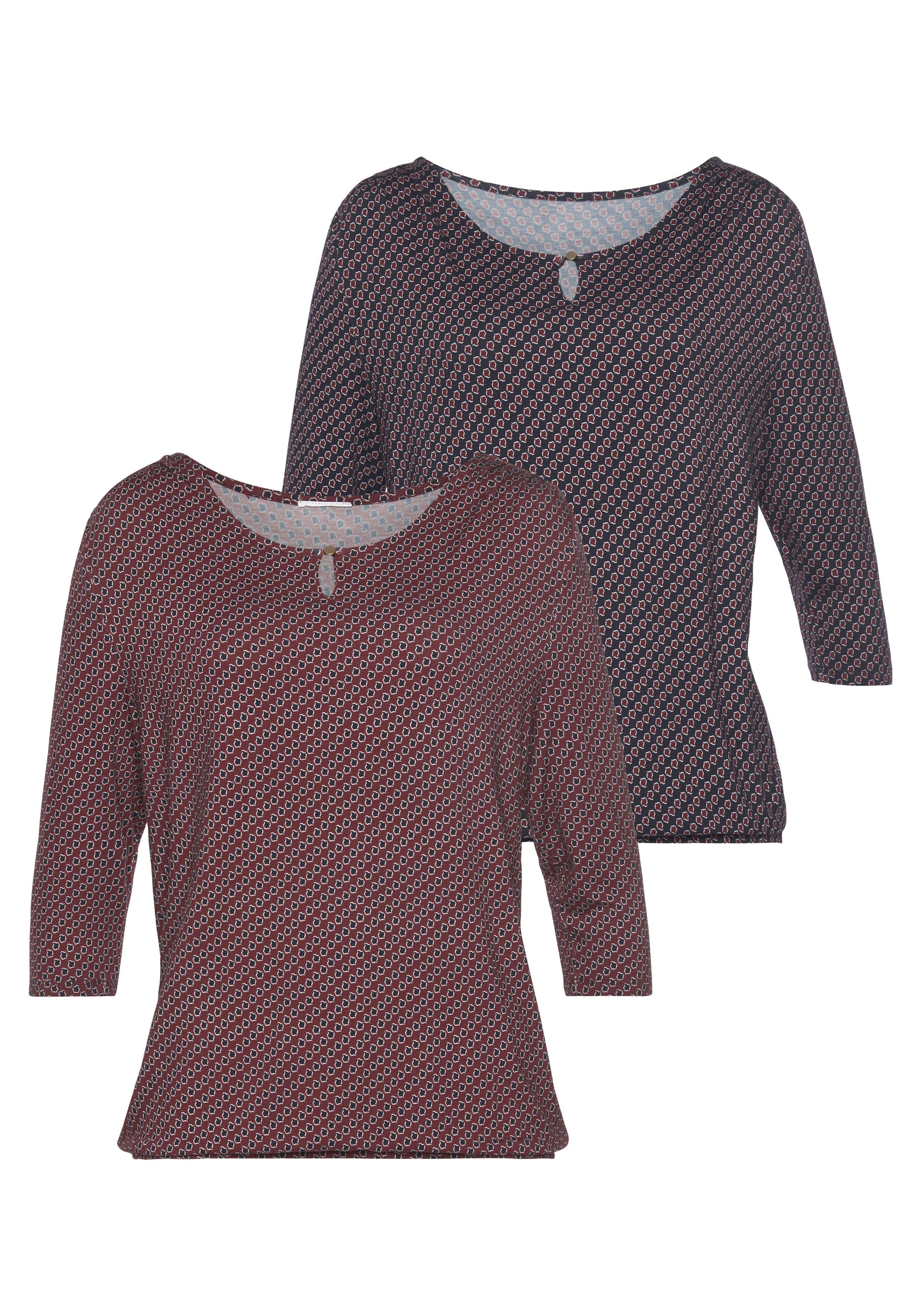 Vivance shirt met 3/4-mouwen (Set van 2) bestellen: 30 dagen bedenktijd
