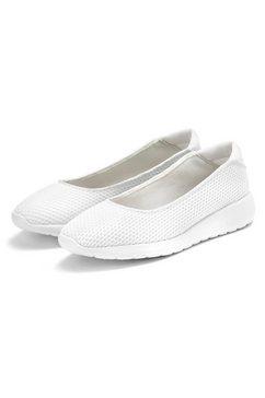 lascana ballerina's sneakers slip-in in superlichte mesh-look wit