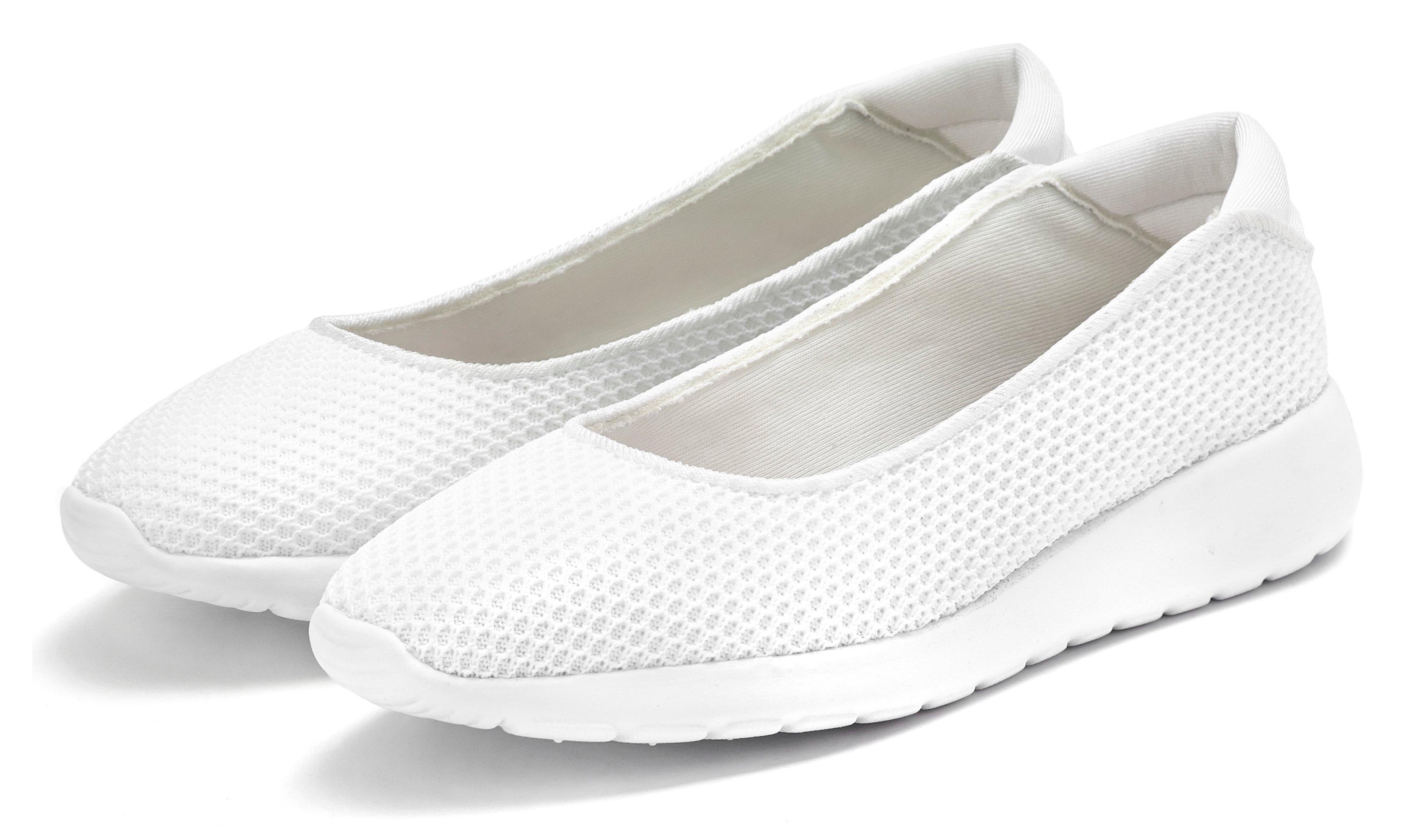 Lascana Ballerina's Sneakers slip-in in superlichte mesh-look goedkoop op lascana.nl kopen