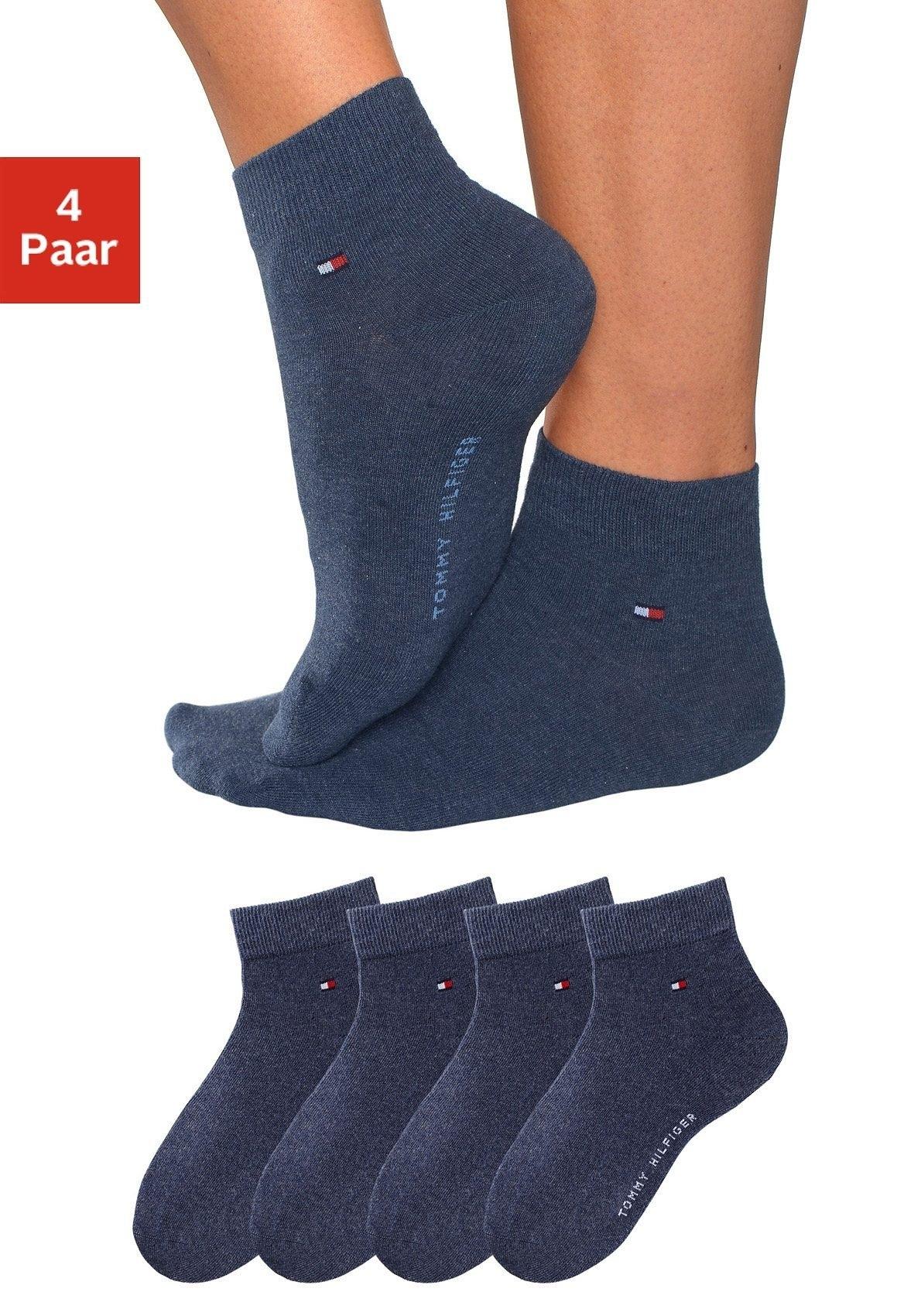 Tommy Hilfiger korte sokken (set van 4 paar) in luxueuze katoenkwaliteit - gratis ruilen op lascana.nl