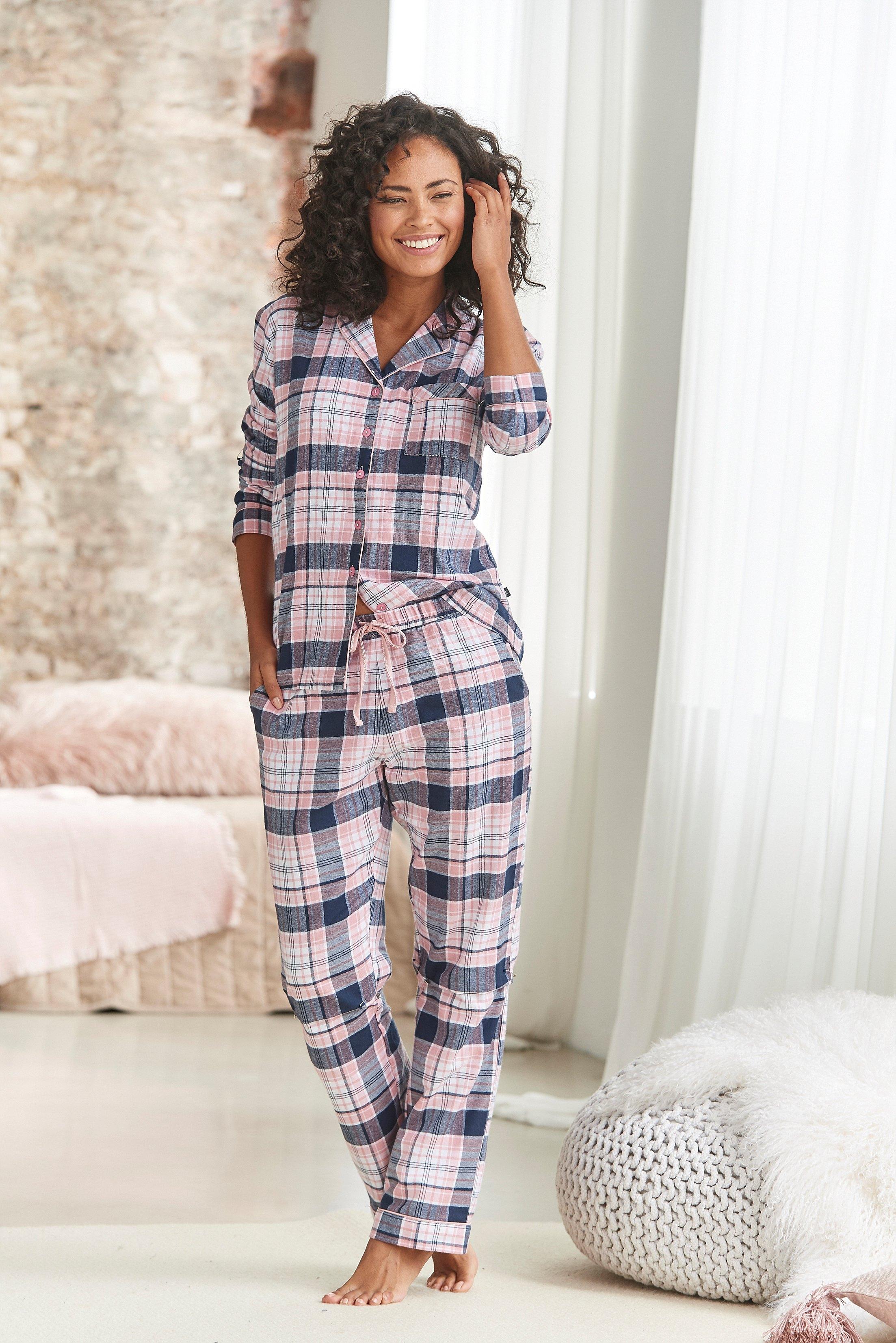 H.I.S Pyjama met ruitmotief all-over van flanel in de webshop van Lascana kopen