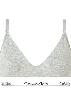 calvin klein voedings-bh met logo onderbusteband grijs