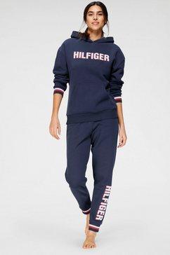 tommy hilfiger hoodie met frotté logo-applicatie blauw