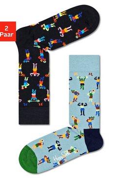 happy socks sokken work it met leuke sportmotieven multicolor