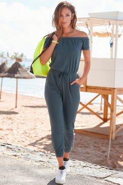 venice beach jumpsuit van zachte sweatstof groen