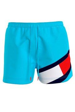 tommy hilfiger zwemshort slim fit blauw