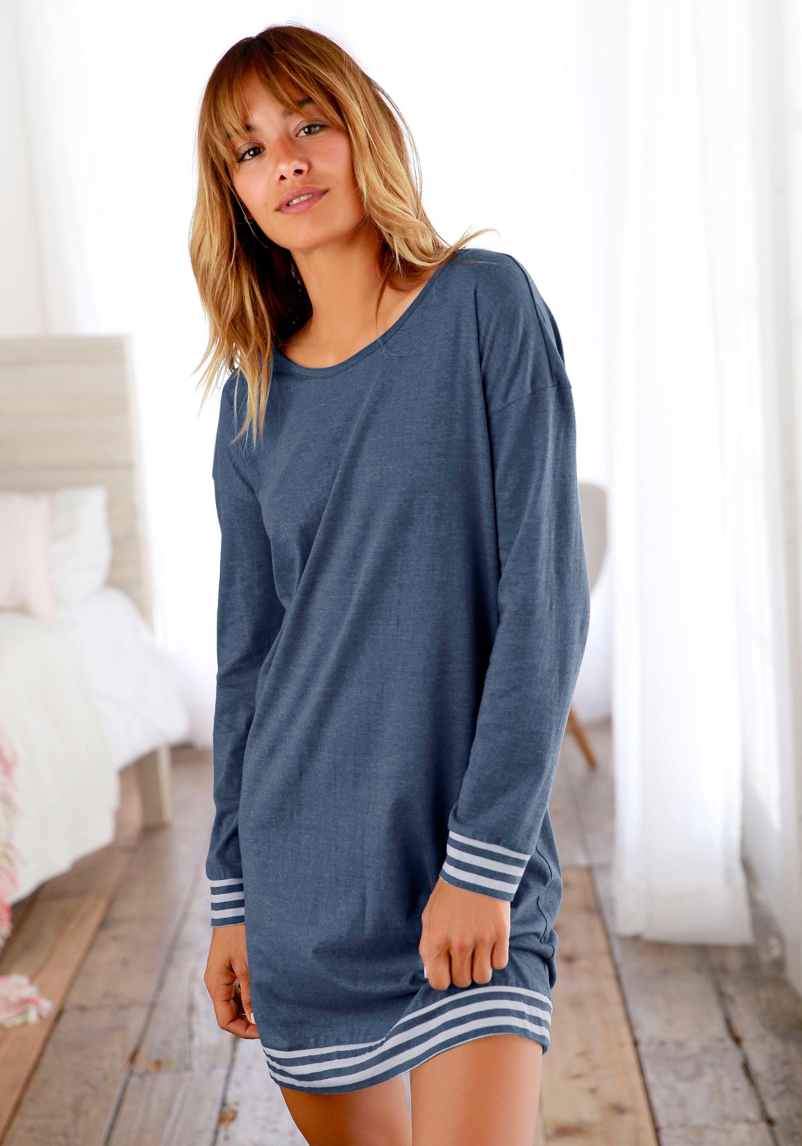 Arizona nachthemd met gestreepte boorden - verschillende betaalmethodes