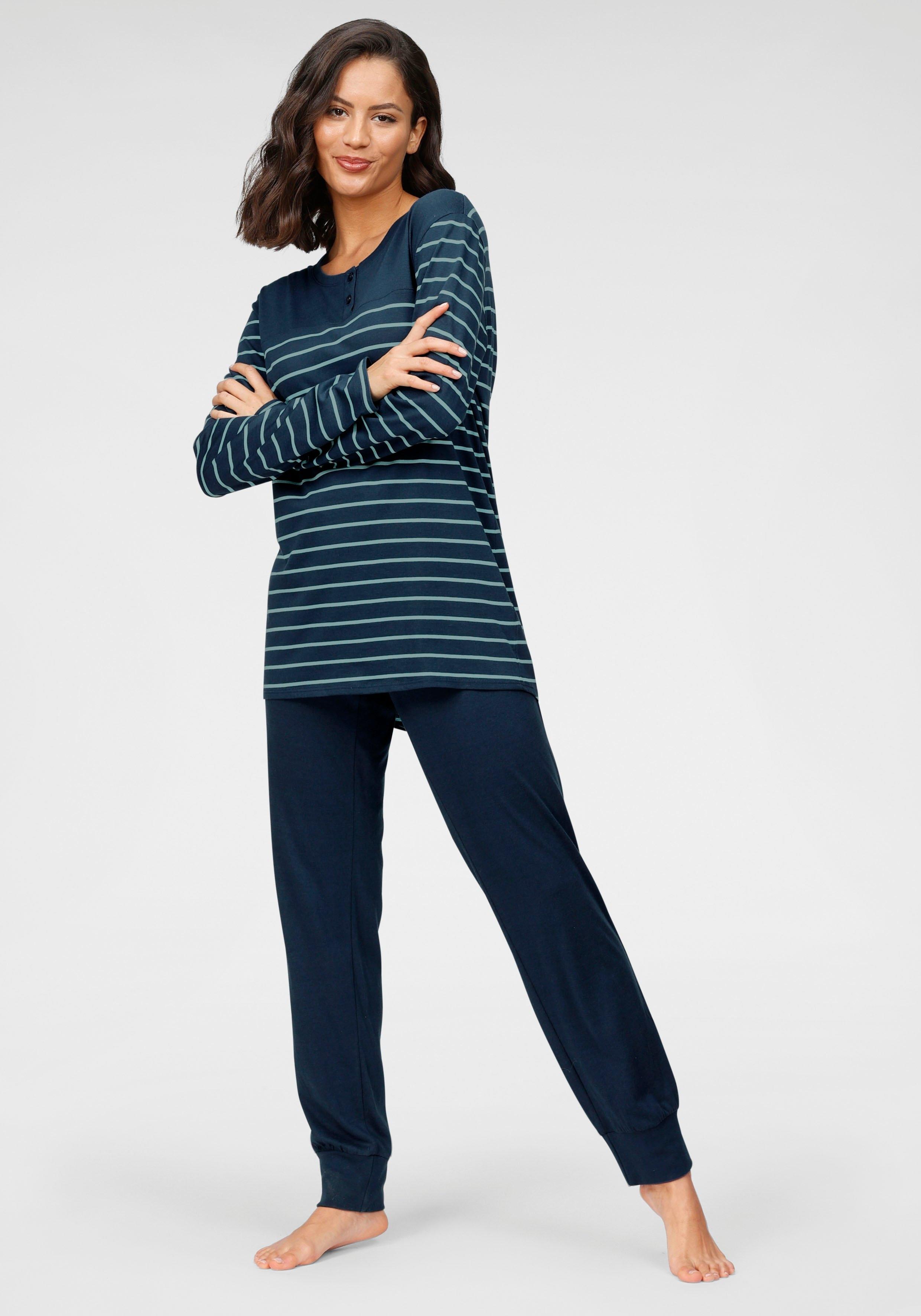 Schiesser Pyjama met gestreepte top voordelig en veilig online kopen