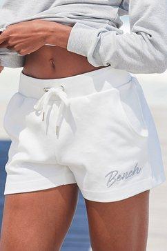 bench. relaxshorts met klein glanzend logoborduursel wit