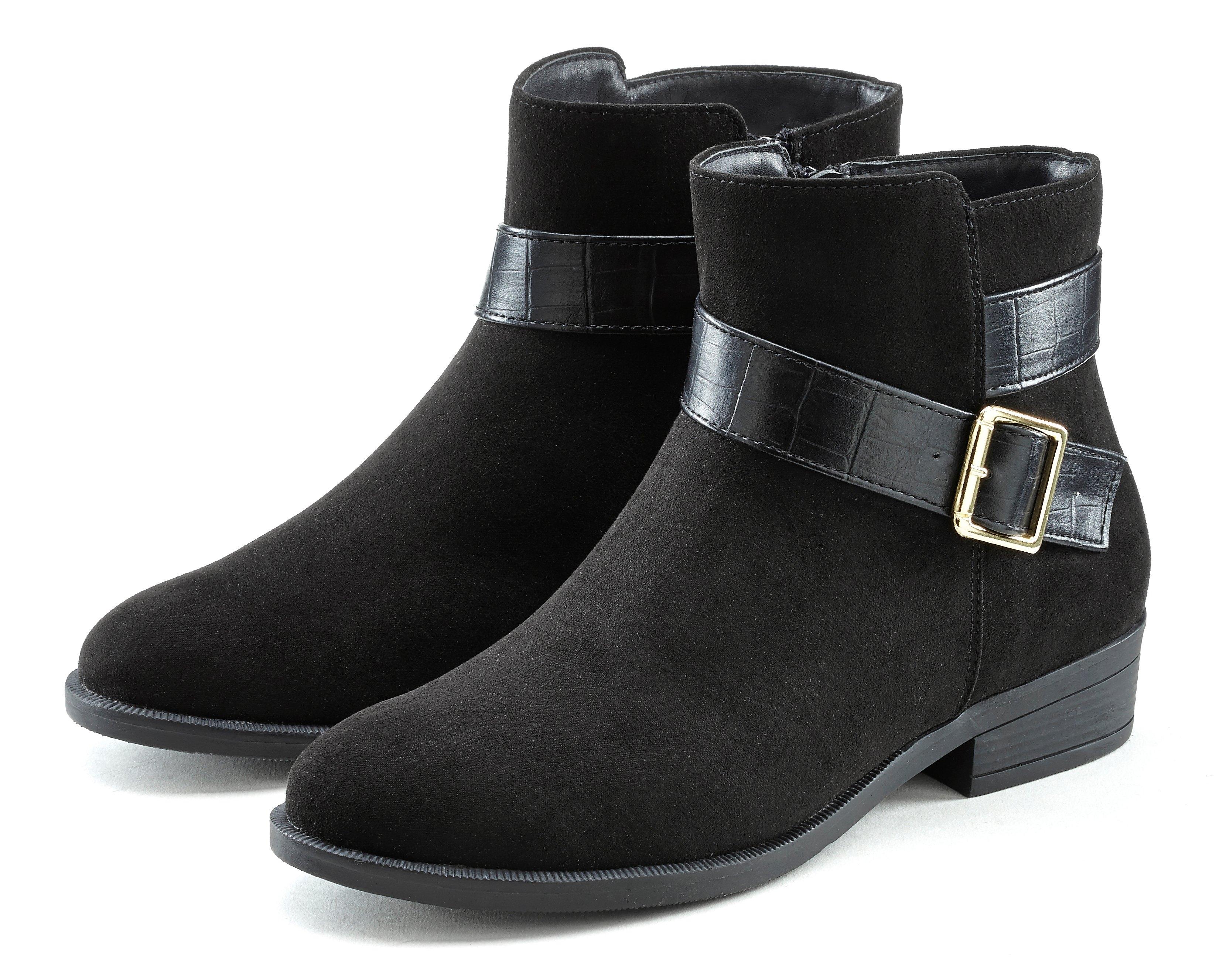 Lascana Chelsea-boots klassieke look met kroko-inzetten voordelig en veilig online kopen