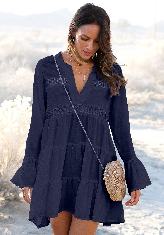 Lascana lange blouse met kanten inzetten bij Lascana online kopen