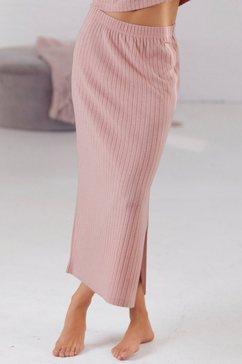 s.oliver red label beachwear sweatrok van duurzaam ribbreisel roze