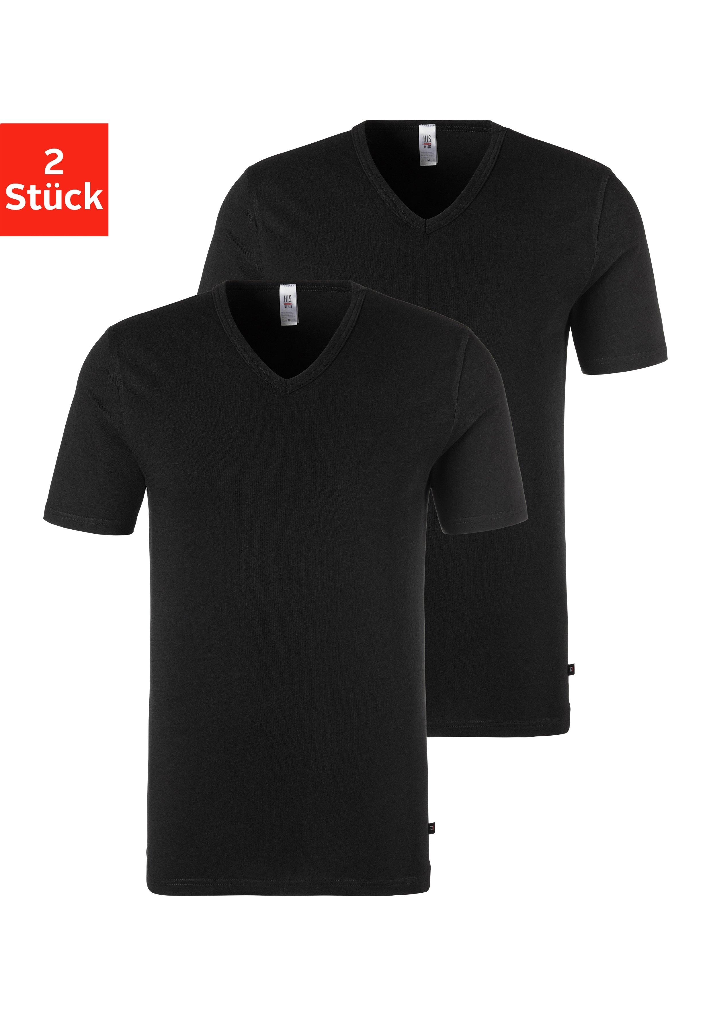 H.I.S shirt voor eronder met v-hals en klein logo (2 stuks) voordelig en veilig online kopen