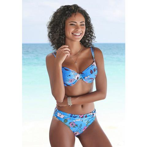 s.Oliver RED LABEL Beachwear bikinibroekje Maya met gebloemd design en omslagband