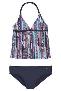 s.oliver red label beachwear tankini met gedetailleerde print blauw