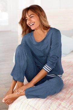 arizona pyjama met gestreepte boorden