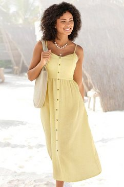 lascana zomerjurk linnenmix geel