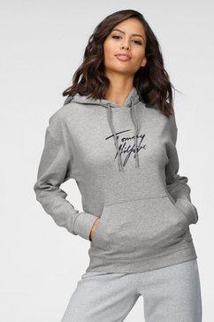 tommy hilfiger hoodie met logoprint grijs
