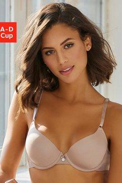 s.oliver red label beachwear bh met steuncups met naadloos voorgevormde cups bruin