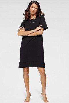 calvin klein nachthemd met kleine frontprint zwart